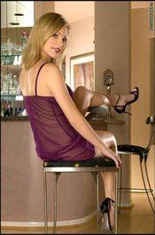 Jessica Kramer - Busty Blonde In Violet Sheer Babydoll 01