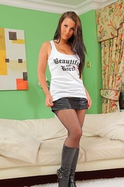 Hot Ivy Nedkova In Pantyhose And Boots 06