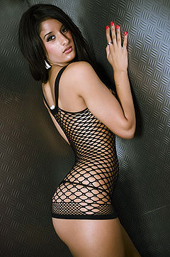 Preeti In Fishnet Top