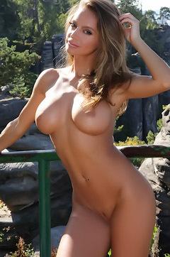 Dana Harem Naked Behind Rocks