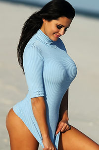 Pashence Tight Blue Sweater