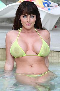 Sophie Dee In Her Sexy Yellow Bikin