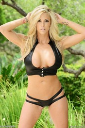 Blonde Bombshell Gisele In Latex Bikini 06