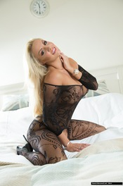 Dannii Harwood In Black Lace 03
