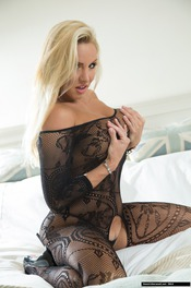 Dannii Harwood In Black Lace 04