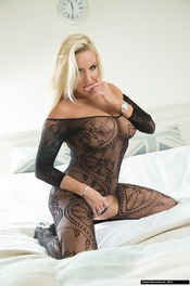 Dannii Harwood In Black Lace 06