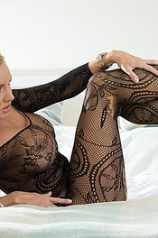 Dannii Harwood In Black Lace 07