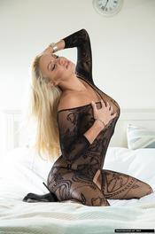 Dannii Harwood In Black Lace 08