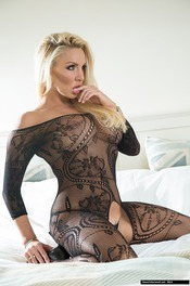 Dannii Harwood In Black Lace 09
