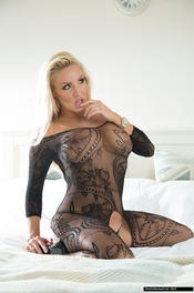 Dannii Harwood In Black Lace 10