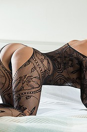 Dannii Harwood In Black Lace 11