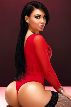 Crystal In Red Lingerie